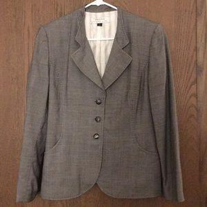 Tahari Gray Blazer Size 10